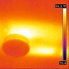 Thermal Image of hallway ceiling